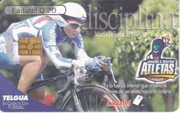 TARJETA DE GUATEMALA DE ATLETAS - CICLISMO CHIP NEGRO (LADATEL-TELGUA) CICLISTA - BICICLETA - Guatemala