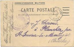 07. ST SAUVEUR DE MONTAGUT. LOT DE 2 CARTES DE CORRESPONDANCE MILITAIRE - France
