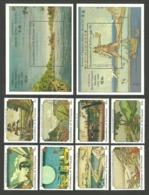 ST VINCENT GRENADINES 1989 JAPANESE ART PAINTINGS LIGHTHOUSE SET & 2 M/SHEETS MNH - St.Vincent & Grenadines