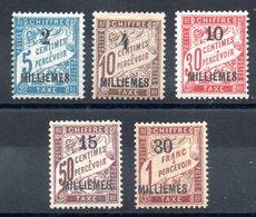 ALEXANDRIE - YT Taxe N° 1 à 5 - Neufs * - MH - Cote: 20,00 € - Alexandria (1899-1931)