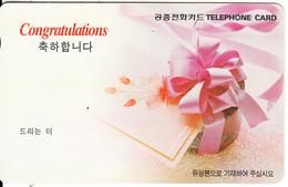 SOUTH KOREA - Congratulations(reverse Letter K, W3000), 02/98, Used - Korea, South