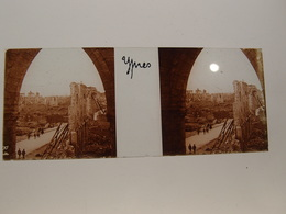 Photo Plaque De Verre Stéréoscopique Guerre 14-18 Poilus Ypres En Ruines - Diapositiva Su Vetro