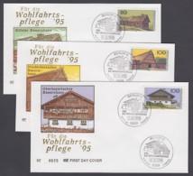 Germany-BRD FDC 1995 - MiNr. 1819, 1821, 1822 - Für Die Wohlfartspflege - Bauernhäuser (B) - [7] République Fédérale