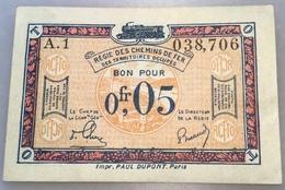 0,05 Francs 1923 Deutschland - Besetztes Rheinland Eisenbahnverwaltung Ro 855 (Rhénanie France Belgique Billet - Eerste Wereldoorlog