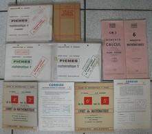 8 Livres Mathématiques Memento Calcul Trigonométrie Mathématique Exercices Corrigés Fiches Vissio Scolaire - Livres, BD, Revues