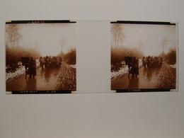 Photo Plaque De Verre Stéréoscopique Guerre 14-18 Poilus En Artois - Diapositiva Su Vetro