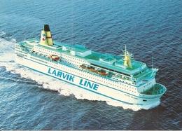 Transport. CPM. Bateaux. M/F Peter Wessel. Cie Larvik Line. Frederikshavn. Hirtshals. (aujourd'hui MS SNAV Toscana) - Ferries