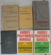 6 Livres Mathématiques Logarithmes Trigonométrie Mathématique Exercices Corrigés Géométrie Scolaire - Livres, BD, Revues