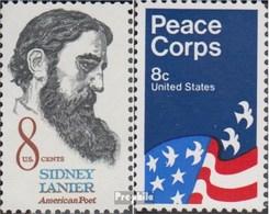 Etats-Unis 1058,1059 (complète.Edition.) Neuf Avec Gomme Originale 1972 Sidney Lanier, Friedenskorps - Ungebraucht