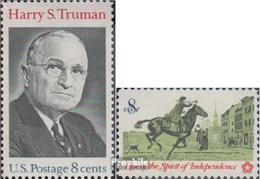 USA Mi.-Nr.: 1106,1107 (kompl.Ausg.) Postfrisch 1973 Harry S Truman, Unabhängigkeit - Stati Uniti