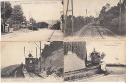 76 - Bon-Secours - La Ligne Du Tramway -lot 4 Cartes Animée Tram - Bonsecours