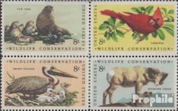 USA 1079-1082 Viererblock (kompl.Ausg.) Postfrisch 1972 Naturschutz - United States