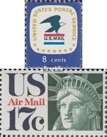 USA 1042,1044 (kompl.Ausg.) Postfrisch 1971 Postemblem, Freiheitsstatue - Unused Stamps