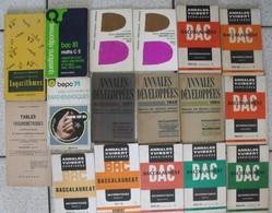 17 Livres Mathématiques Arithmétique Algèbre Trigonométrie Exercices Corrigés Géométrie Annales Vuibert Scolaire - Lots De Plusieurs Livres