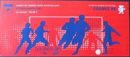 R1615/56 - COUPE DU MONDE DE FOOTBALL / FRANCE 98 - BANDE CARNET N°BC17 TIMBRES NEUFS** AUTOADHESIFS - Francia