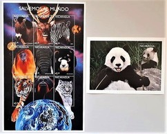 Nicaragua 1999**Mi.3899-3907 + Bl.476 Animals Of The World , MNH [4;52] - Sellos