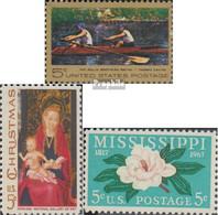USA 936,937,938 (kompl.Ausg.) Postfrisch 1967 Eakins, Weihnachten, Mississippi - United States