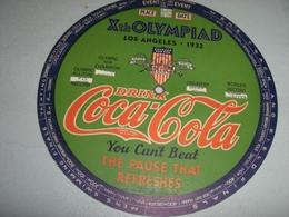 CARTONCINO  OLIMPIADI LOS ANGELES 1932 PUBBLICITARIO COCA COLA - Coca-Cola