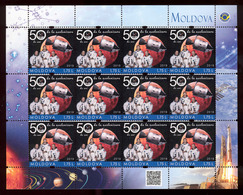 Moldova 2019 50 Anniversary Of The Apollo 11 Space Mission Personalized Stamp Sheetlet** MNH - Moldova