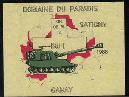 Etiquette De Vin // Gamay De Satigny, Militaire, GR. OB. BL. 2 1988 - Militaire