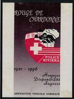 Etiquette De Vin // Chardonne-Rouge, Police Riviera - Etiquettes