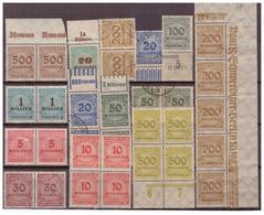DR: 1923,  Aus Nr. 313-30, Postfrisch - Deutschland