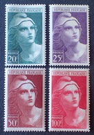 R1615/64 - 1945 - TYPE MARIANNE DE GANDON - N°730 à 733 NEUFS** - 1945-54 Marianne De Gandon