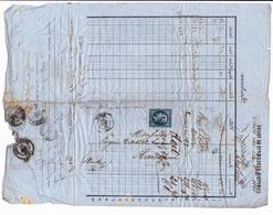 Lettre 1862 Comptoir De L'Escompte Tours Indre Et Loire Bastard & Cie Carcassonne Aude Timbre Napoléon III 20 Centimes - 1853-1860 Napoléon III