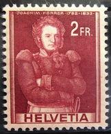 SUISSE                N° 366                  NEUF**      (1 Pli) - Unused Stamps