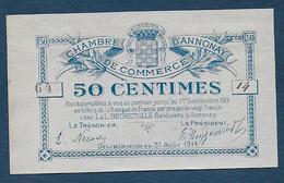 Chambre De Commerce D' Annonay - 50 C - 1914  ( Pirot N° 7 ) - Chambre De Commerce