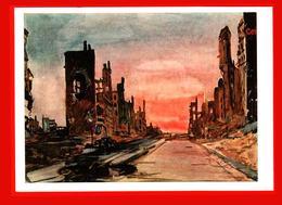 Deineka Berlin Frankfurteralle Allemagne Ruines Bombardant 1946 Peinture - Non Classés