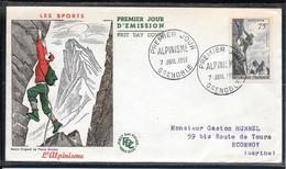 FDC 1956 - 1075  Série Sportive: L'Alpinisme - 1950-1959