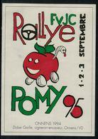 Etiquette De Vin // Onnens 1994, Rallye De La Jeunesse Pomy 1995 - Voitures