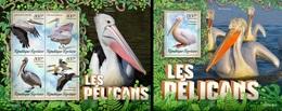 Togo 2019, Animals, Pellicans, 4val In BF +BF - Pélicans