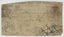 Rare Billet De 5 Shillings De La Gloucester City Old Bank . 1828 . - …-1952 : Avant Elizabeth II