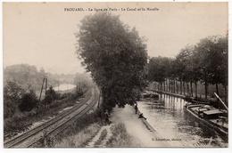 Frouard : La Ligne De Paris, Le Canal Et La Moselle (Editeur G. Labouique) - Frouard