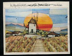 Etiquette De Vin // Le Moulin à Vent, Suisse - Windmills