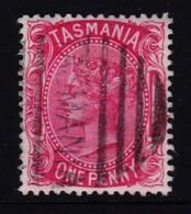 Tasmania 1878 Queen Victoria 1p Rose Used  SG 156 - 1853-1912 Tasmania