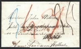 Voorloper EECLOO (B) Naar Utrecht En Doorgezonden Naar AMSTERDAM. 1849 - 1830-1849 (Belgique Indépendante)
