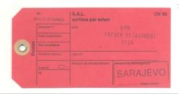 Etiquette Pour Sac Postal - Armée Française - BPM French Detachment SFOR à SARAJEVO 2002 (fr81) - Dokumente