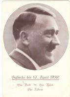 """III. Reich, Adolf Hitler,  """" Des Führers Geburtstag """" Am 10 April Dem Führer Dein Ja ! - Weltkrieg 1939-45"""