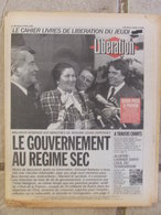 Journal Libération (1er Avril 1993) Balladur Premiers Pas - Assemblée Nationale - Armée Algérienne/islamistes - - Zeitungen