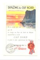 Diplôme ( Vierge) Du Passage Du Cap NORD 1958 - Croisière, Bateau,... (fr81) - Diplômes & Bulletins Scolaires