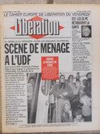 Journal Libération (2 Avril 1993) Menage à L'UDF - AZT/Séropositifs - Auto Les Japonaises - Bosnie - Ex Communistes - Zeitungen