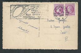 France. Poste Aux Armées 523 (Constance Allemagne) Avec Flamme Congrés De La Fédération Nationale Des Chasseurs Mai 1948 - WW II