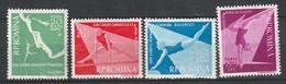 ROUMANIE - N°1511/4 ** (1957) Coupe D'Europe De Gymnastique - 1948-.... Repubbliche