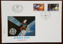 Yougoslavie - FDC 1991 - YT N°2341, 2342 - EUROPA / L'EUROPE ET L'ESPACE - FDC