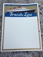Menu Illustré Pour Croisière ( Je Pense ) Compagnie Général Transatlantique French Line ( Paquebot ) - Bateaux