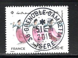 France 2019.Euromed.Costumes De Méditéranée.Cachet Rond Gomme D'origine. - France