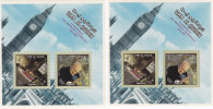 Umm Al Qiwain, Churchill 2 Souvenir Sheets 1967 Perf+ Imperf-MNH- SKRILL PAYMENT ONLY - Umm Al-Qiwain